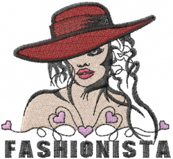 Woman In A Red Hat embroidery design