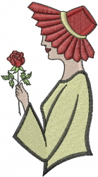 Red Hat And Rose embroidery design