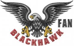Black Hawks embroidery design