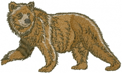 Brown Bear embroidery design