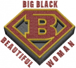 Super Blackwoman embroidery design