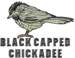 Chickadee embroidery design
