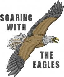 Eagle Soaring embroidery design