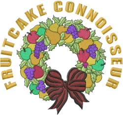 Christmas Fruitcake embroidery design