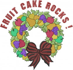 Fruit Cake Rocks embroidery design