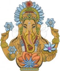 Indian God Ganesh embroidery design