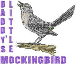 Mockingbird embroidery design