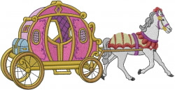 Princess Carriage embroidery design