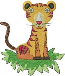 Cartoon Tiger embroidery design