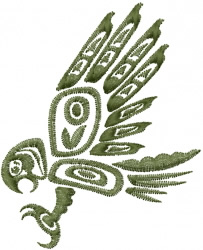 Tribal Haida Eagle embroidery design