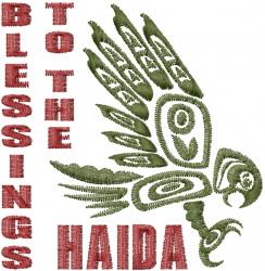 Tribal Haida Eagle embroidery design