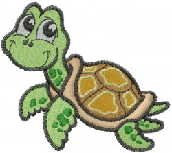 Cartoon Turtle embroidery design