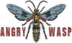 Wasp embroidery design