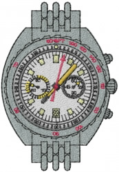 Watch Face embroidery design