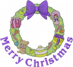 Childs Christmas Wreath embroidery design