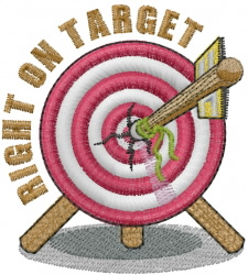 Arrow In Target Embroidery Designs Machine Embroidery
