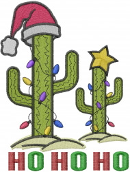 Christmas Cactus Tree embroidery design