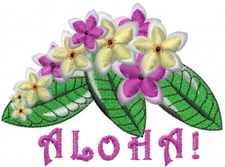 Hawaiian Flower embroidery design