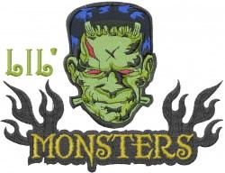 Lil Frankenstein embroidery design