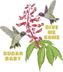 Hummingbirds embroidery design
