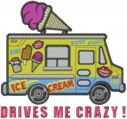 Ice Cream Truck embroidery design