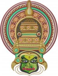 Kathakali embroidery design