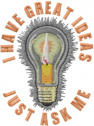 Lightbulb Candle embroidery design