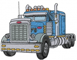 Perterbilt Truck embroidery design