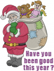 Santa Claus Gift Sack embroidery design