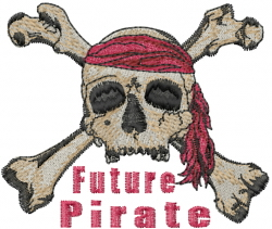 Future Pirate embroidery design