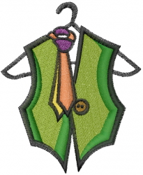 Vest And Tie embroidery design