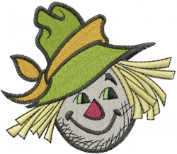 Scarecrow Head embroidery design