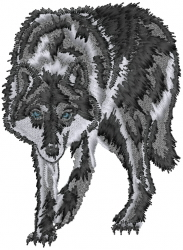Wolf Stalking embroidery design