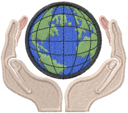 World Hands embroidery design