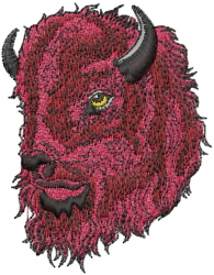 Bison Head embroidery design