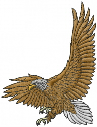 Eagle Wings embroidery design