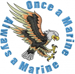 Once A Marine embroidery design