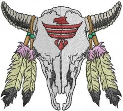 Native American Skull embroidery design