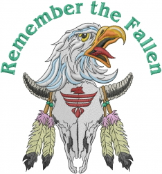 Remember The Fallen embroidery design