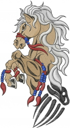 Tribal Horse Tattoo embroidery design