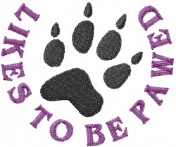 Animal Track Paw embroidery design
