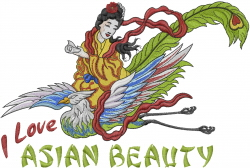 Asian Beauty embroidery design