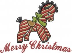 Christmas Toy Zebra embroidery design