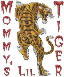 Mommys Lil Tiger embroidery design