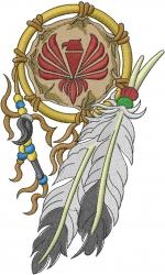 Eagle Dream Catcher embroidery design