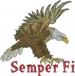 Eagle Semper Fi embroidery design