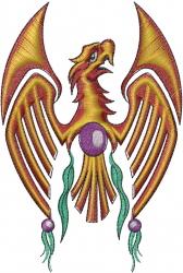 Red Eagle Pendant embroidery design