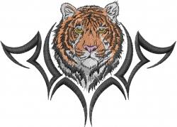 Tiger Head Tattoo embroidery design