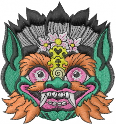 Tribal Scary Face embroidery design