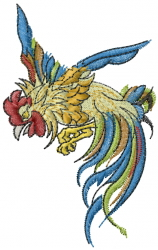 Asian Cock Fighter embroidery design
